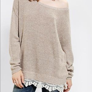 Urban outfitters pullover sweater size with lace